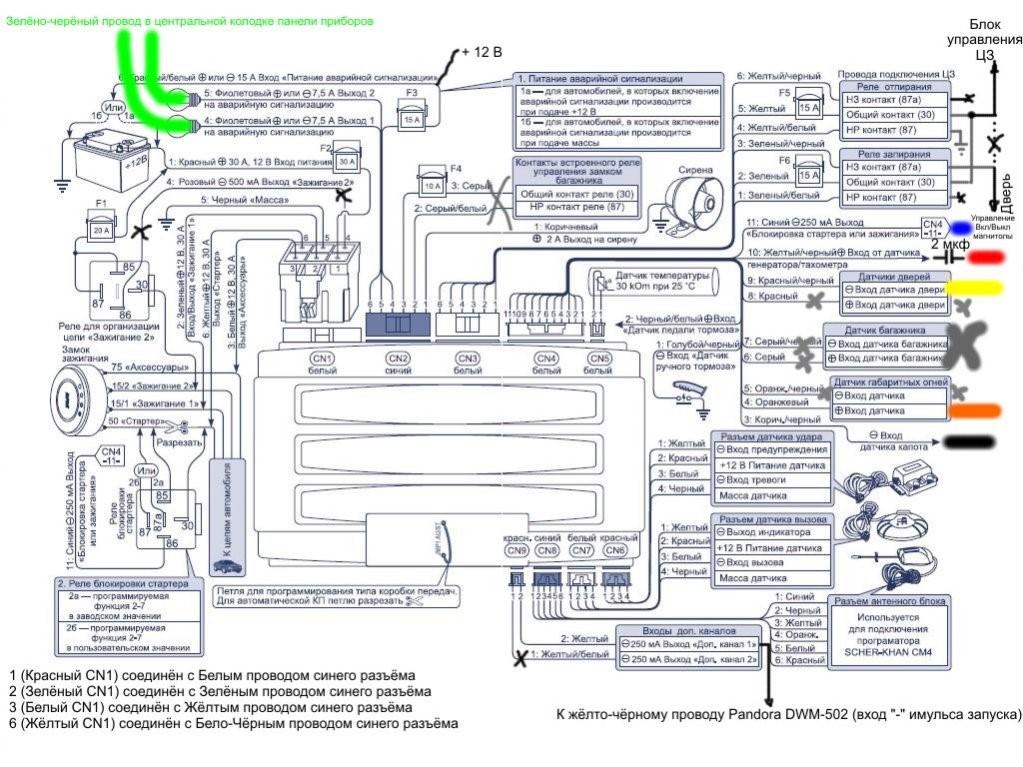 Схема подключения Шершан магикар 7
